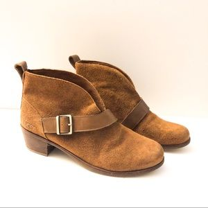 UGG Brown suede belted booties